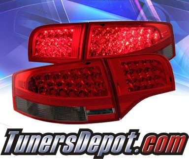 KS® LED Tail Lights (Red/Smoke) - 05-08 Audi A4
