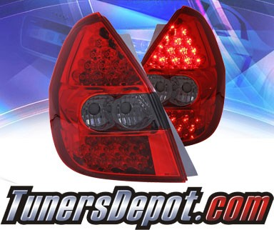 KS® LED Tail Lights (Red/Smoke) - 06-08 Honda Fit