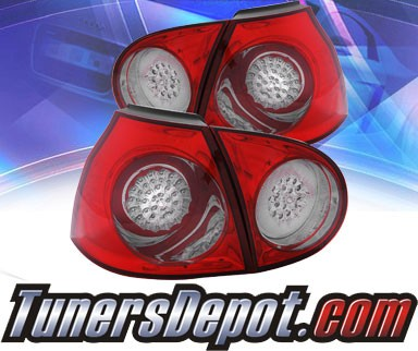 KS® LED Tail Lights (Red/Smoke) - 06-09 VW Volkswagen Golf (GTI)