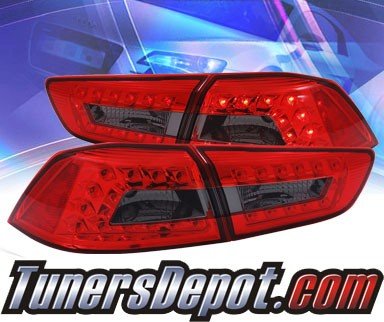 KS® LED Tail Lights (Red/Smoke) - 08-12 Mitsubishi Lancer