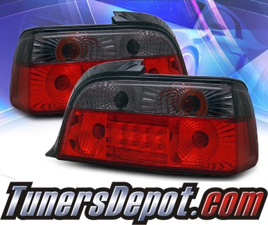 KS® LED Tail Lights (Red/Smoke) - 92-99 BMW 323is E36 Convertible