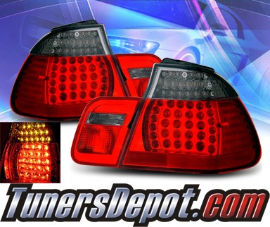 KS® LED Tail Lights (Red/Smoke) - 99-01 BMW 323Ci E46 2dr. exc. Convertible