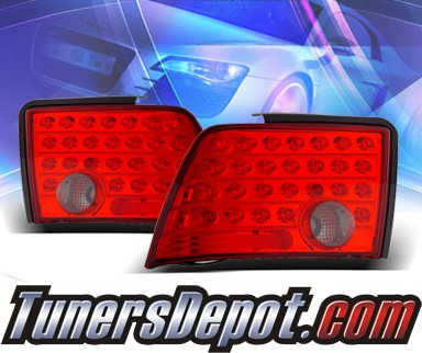 KS® LED Tail Lights (Red/Smoke) - 99-04 Ford Mustang