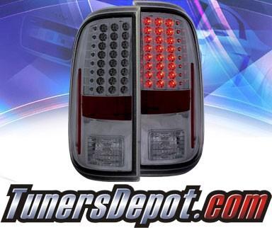 ks led tail lights smoke 08 13 ford f 250 f250 super. Black Bedroom Furniture Sets. Home Design Ideas