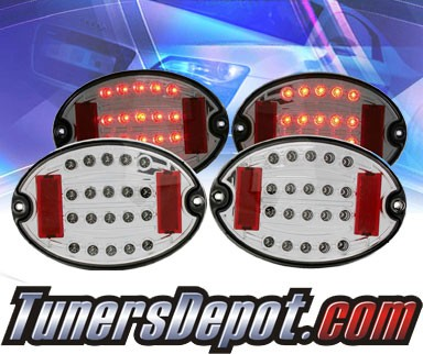 KS® LED Tail Lights (Smoke) - 97-04 Chevy Corvette