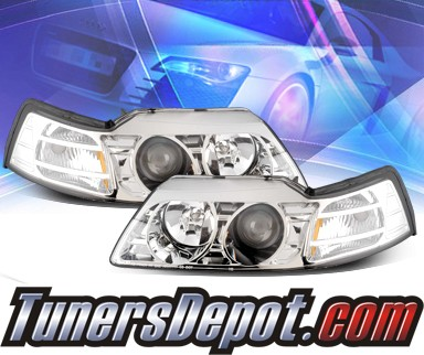 KS® Projector Headlights - 99-04 Ford Mustang