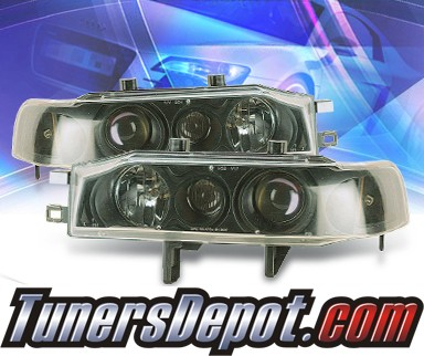 KS® Projector Headlights (Black) - 90-93 Honda Accord