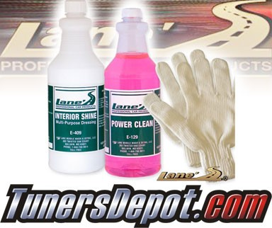 Lanes® Professional Car Care Products - Auto Interior Shine, Auto Detail Microfiber Gloves and Vinyl Cleaner Kit (16 oz)