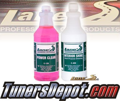 Lanes® Professional Car Care Products - Auto Interior Shine and Vinyl Cleaner Kit (16 oz)
