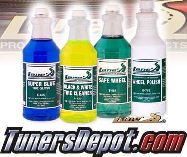Lanes® Professional Car Care Products - Chrome Wheel & Tire Cleaner Kit (16 oz)