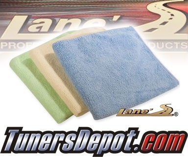 Lanes® Professional Car Care Products - Microfiber Car Detailing Towels - 3 Pack