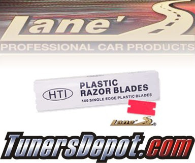 Lanes® Professional Car Care Products - Plastic Razor Blades Single-Edge Box of 100