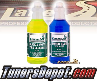 Lanes® Professional Car Care Products - Super Blue Tire Gloss Shine and Tire Cleaner Kit (16 oz)