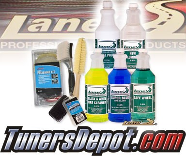 Lanes® Professional Car Care Products - Ultimate Wheel Polishing & Tire Cleaning Kit (16 oz)