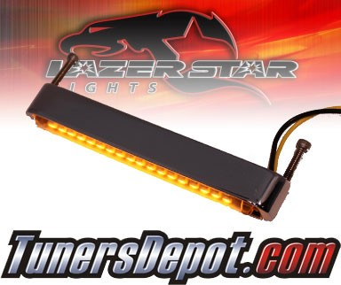 Lazer Star® Billet Aluminum Case LED Light Bar - 4&quto; Back Mount (Amber)