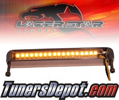 Lazer Star® Billet Aluminum Case LED Light Bar - 4&quto; Bottom Mount (Amber)
