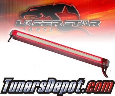 Lazer Star® Billet Aluminum Case LED Light Bar - 4&quto; Bottom Mount (Red)