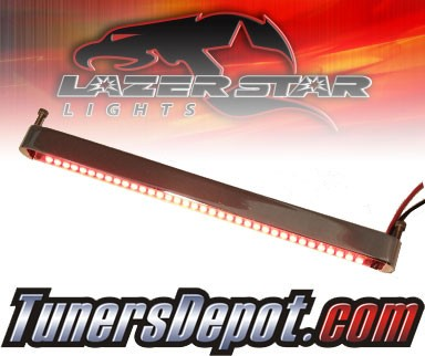 Lazer Star® Billet Aluminum Case LED Light Bar - 7&quto; Back Mount (Red)