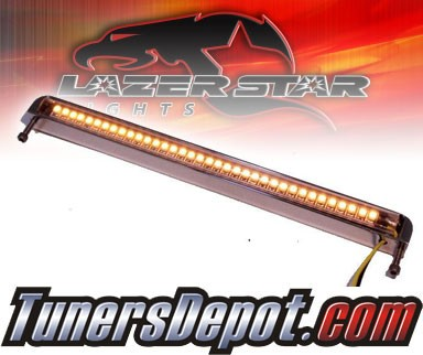 Lazer Star® Billet Aluminum Case LED Light Bar - 7&quto; Bottom Mount (Amber)