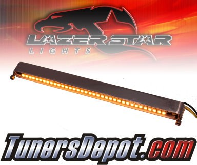 Lazer Star® Billet Aluminum Case LED Light Bar - 7&quto; Tube Mount (Amber)