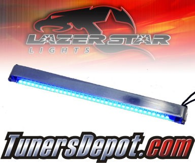 Lazer Star® Billet Aluminum Case LED Light Bar - 7&quto; Tube Mount (Blue)