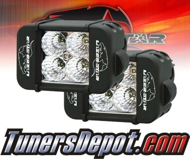 Lazer Star® Endeavor 4&quto; Dual Row Light Bars - 4 LED Flood Lights (3w) (PAIR)