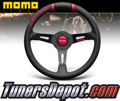 Momo® Racing Steering Wheel - Drifting (Black with Red Stitch) 330mm
