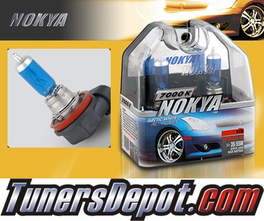 NOKYA® Arctic White Fog Light Bulbs - 10-11 Infiniti G37 4dr (H8)