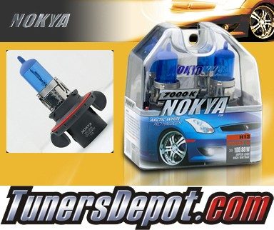 NOKYA® Arctic White Headlight Bulbs - 2008 Ford Mustang w/ Replaceable Halogen Bulbs (H13/9008)