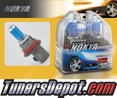 NOKYA® Arctic White Headlight Bulbs - 87-89 Pontiac Grand Am w/ Replaceable Halogen Bulbs (9004/HB1)
