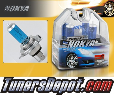 NOKYA® Arctic White Headlight Bulbs  - 95-97 GEO Metro w/ Replaceable Halogen Bulbs (H4/HB2/9003)