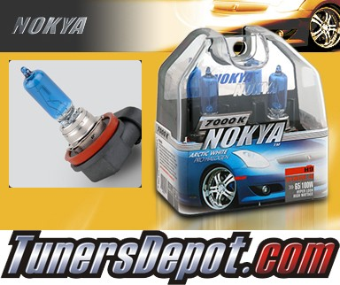 NOKYA® Arctic White Headlight Bulbs (High Beam) - 2008 Infiniti EX35 w/ Replaceable Halogen Bulbs (H9)