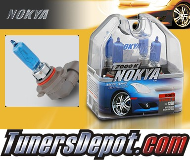 NOKYA® Arctic White Headlight Bulbs (High Beam) - 91-94 Pontiac Sunbird w/ Replaceable Halogen Bulbs (9005/HB3)