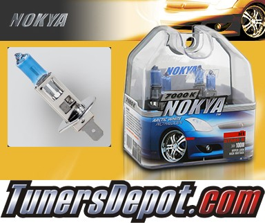 NOKYA® Arctic White Headlight Bulbs (Low Beam) - 04-08 Jaguar X-Type w/ Replaceable Halogen Bulbs (H1)
