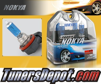 NOKYA® Arctic White Headlight Bulbs (Low Beam) - 05-08 Volvo S40 w/ Replaceable Halogen Bulbs (H11)