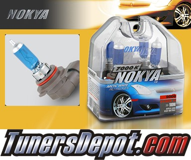 NOKYA® Arctic White Headlight Bulbs (Low Beam) - 95-05 GMC Safari w/ Replaceable Halogen Bulbs (9006/HB4)