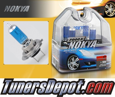 NOKYA® Arctic White Headlight Bulbs (Low Beam) - 98-99 Mercedes S420 w/ Replaceable Halogen Bulbs (H7)