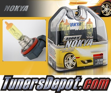 NOKYA® Arctic Yellow Fog Light Bulbs - 10-11 BMW 528i 4dr E60 (H8)