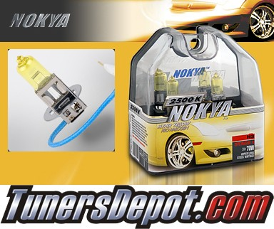 NOKYA® Arctic Yellow Fog Light Bulbs - 94-98 Saab 900 (H3)