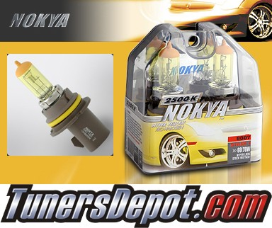 NOKYA® Arctic Yellow Headlight Bulbs - 05-06 Mitsubishi Lancer OZ Rally Edition (9007/HB5)