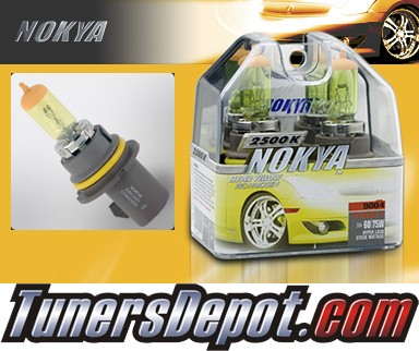NOKYA® Arctic Yellow Headlight Bulbs - 87-94 Nissan Pickup w/ Replaceable Halogen Bulbs (9004/HB1)
