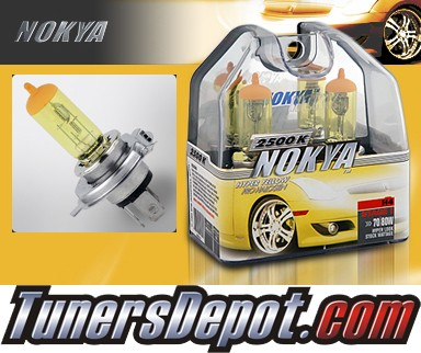 NOKYA® Arctic Yellow Headlight Bulbs  - 97-02 Mitsubishi Mirage 2 Door (H4/HB2/9003)