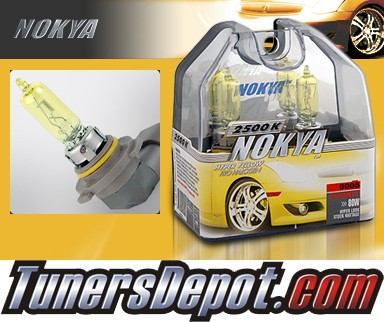 NOKYA® Arctic Yellow Headlight Bulbs (High Beam) - 00-06 Jaguar XK8 w/ Replaceable Halogen Bulbs (9005/HB3)
