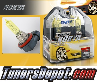 NOKYA® Arctic Yellow Headlight Bulbs (High Beam) - 2008 Infiniti EX35 w/ Replaceable Halogen Bulbs (H9)