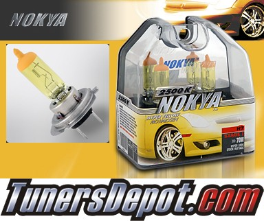 NOKYA® Arctic Yellow Headlight Bulbs (High Beam) - 97-01 Cadillac Catera w/ Replaceable Halogen Bulbs (H7)