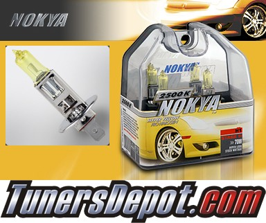NOKYA® Arctic Yellow Headlight Bulbs (High Beam) - 98-00 Mercedes C230 w/ Replaceable Halogen Bulbs (H1)