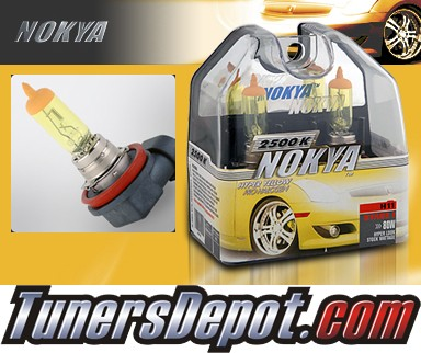 NOKYA® Arctic Yellow Headlight Bulbs (Low Beam) - 05-06 Volvo S60 w/ Replaceable Halogen Bulbs (H11)
