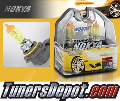 NOKYA® Arctic Yellow Headlight Bulbs (Low Beam) - 1992 Plymouth Colt Hatchback, Non Canada model (9006/HB4)