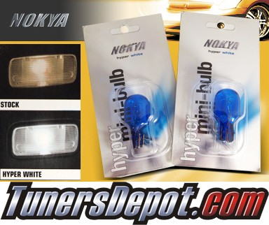 NOKYA® Bulbs (PAIR) - Dual Filament Plug in Glass Base 7443 (Hyper White)- UNIVERSAL