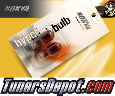 NOKYA® Bulbs (PAIR) - Single Filament Plug in 168 921 (Hyper Amber) - UNIVERSAL